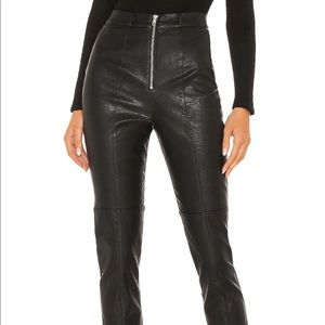 Revolve Faux Leather Trousers XS Brand new + tags